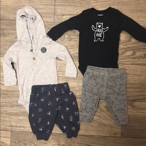 Carter's baby boy wilderness outfits bundle